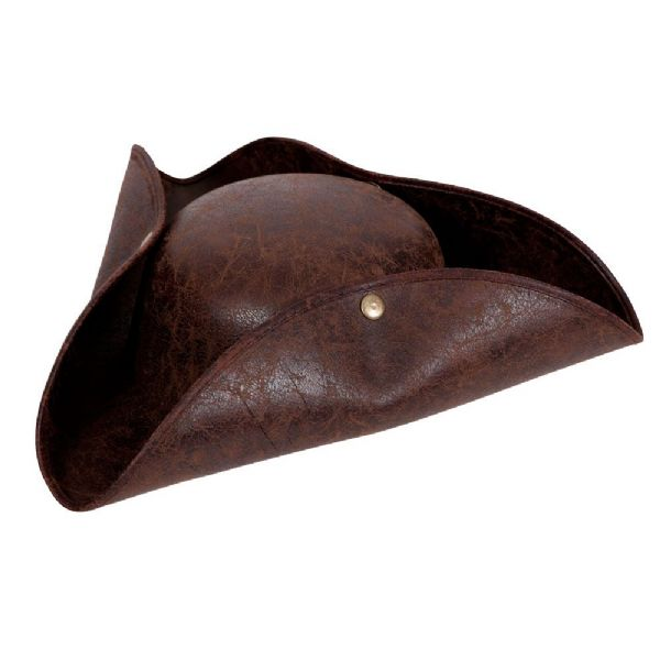 Pirate Hat - Distressed Brown Leather Look